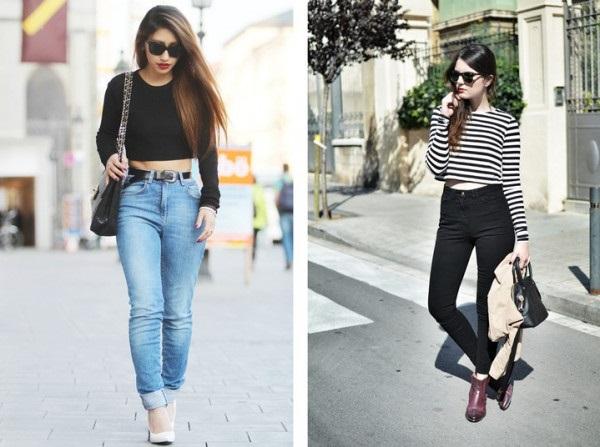 джинсы в гардеробе девушки