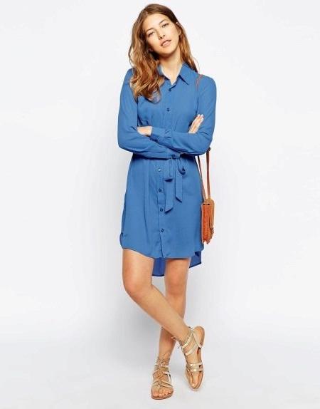 правила подбора платья-рубашки