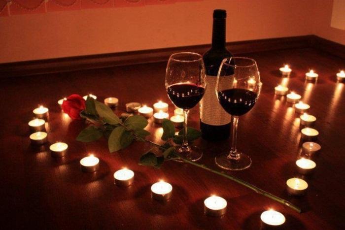 как устроить романтический ужин при свечах