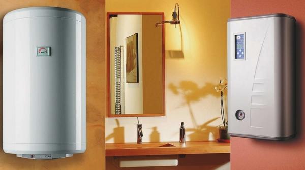 Газовый и электрический водонагреватель